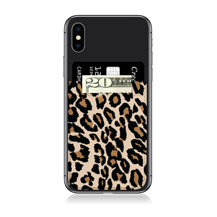 Image For iDecoz Faux Leather Phone Pocket - Leopard Print