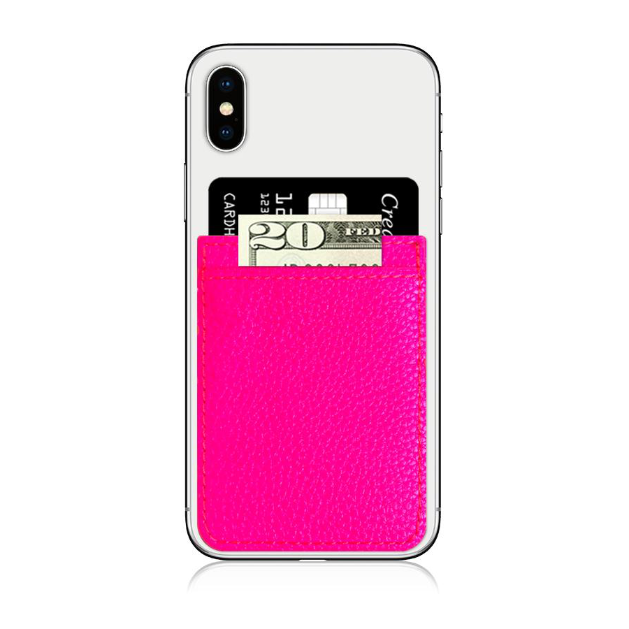 Image For iDecoz Faux Leather Phone Pocket - Pink