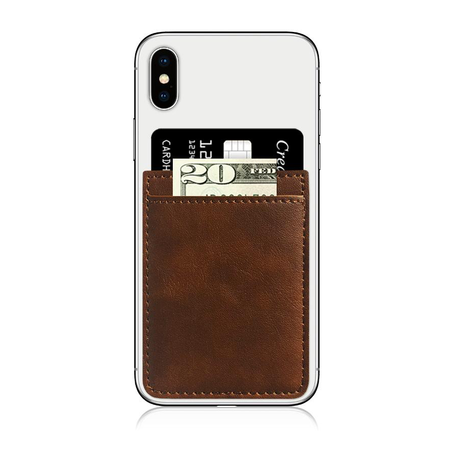Image For iDecoz Faux Leather Phone Pocket - Brown