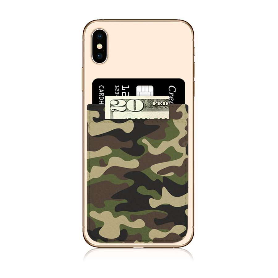 Image For iDecoz Faux Leather Phone Pocket - Camo