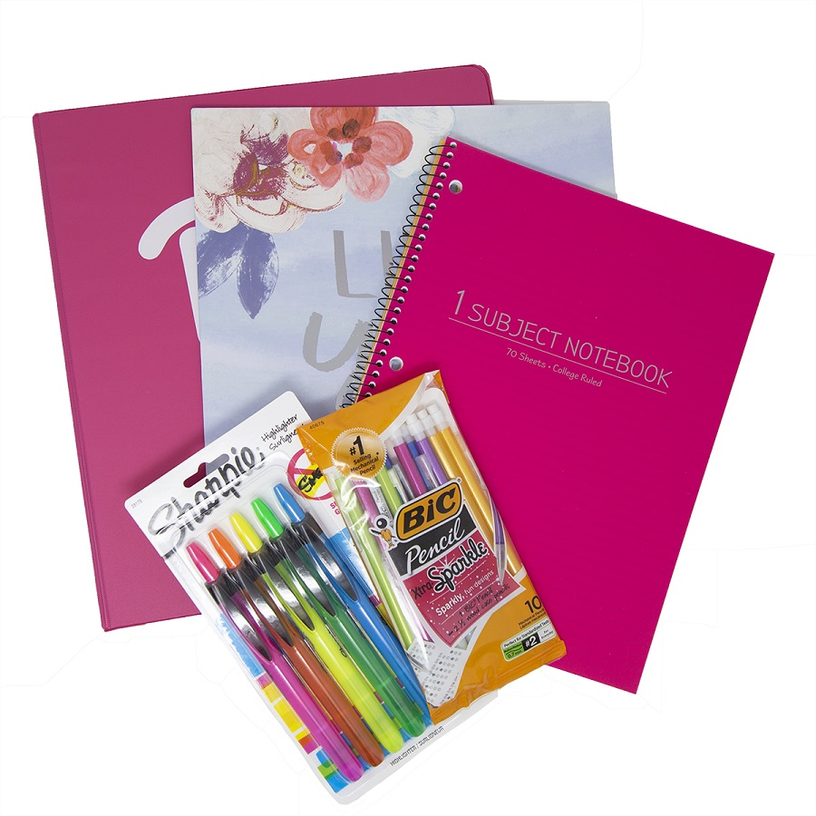 Image For Back to School Essentials Kit - Pink