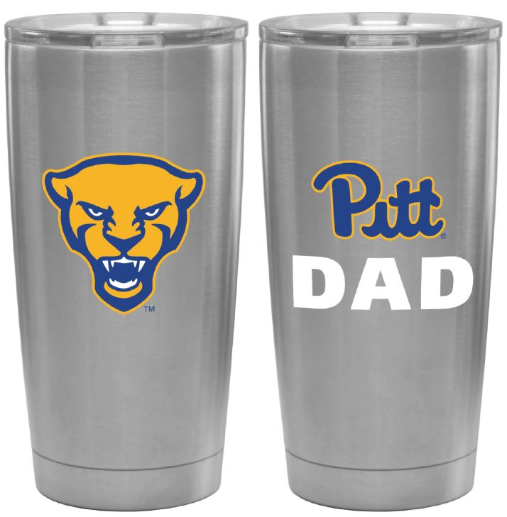 Image For Dad Travel Tumbler in Silver