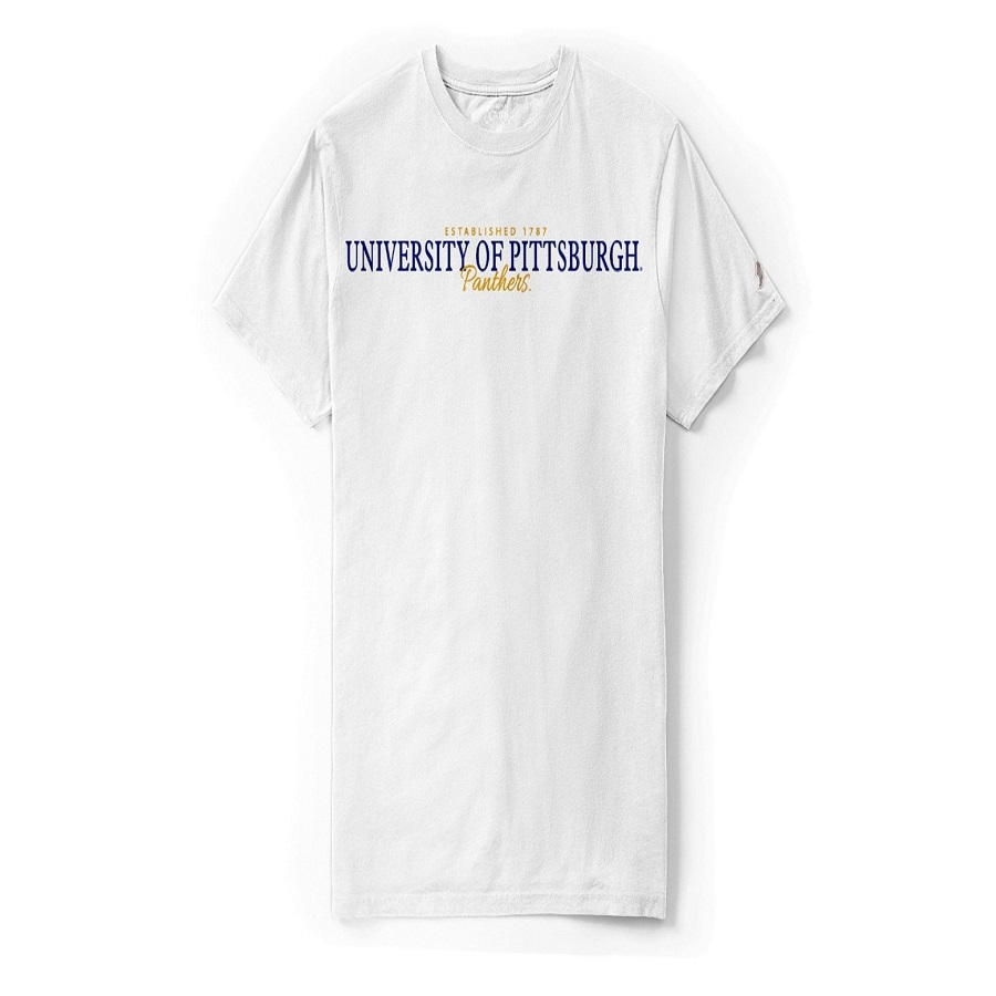 Image For League Men's University of Pittsburgh 1787 T-Shirt - White