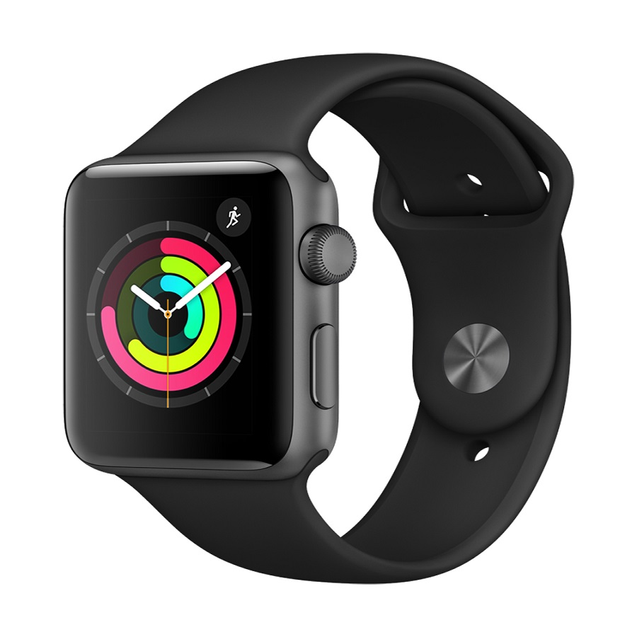 Image For Apple Watch Series 3 - 42mm - Space Gray/Black