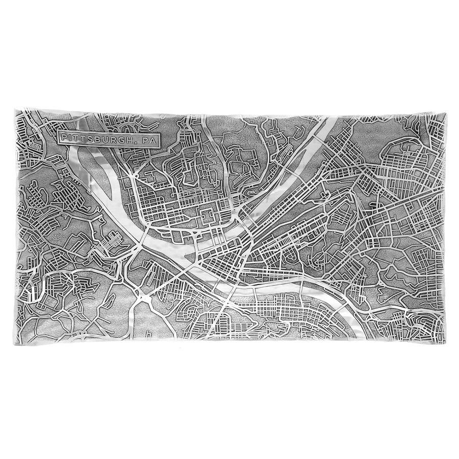 Image For Wendell August Pittsburgh Map Hudson Tray
