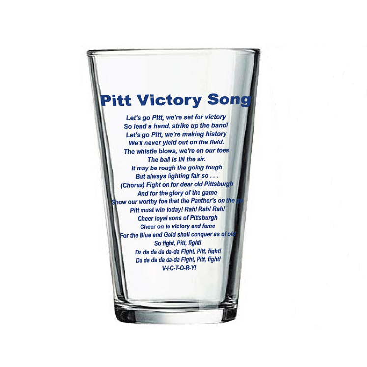 Image For Pitt Victory Song Pint Glass