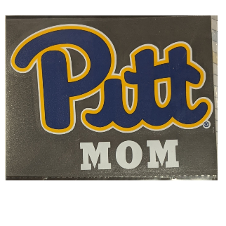 Image For Pitt Script Mom Decal