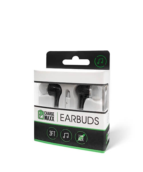 Image For Charge Maxx Premium Earbuds (Black)