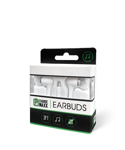 Image For Charge Maxx Premium Earbuds (White)