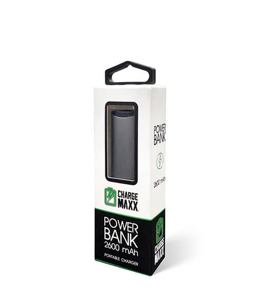 Image For Charge Maxx Power Bank 2,600 mAh Capacity