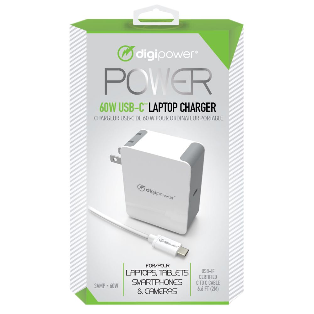 Cover Image For Digipower CT-AC60 60w Usb C Laptop Charger