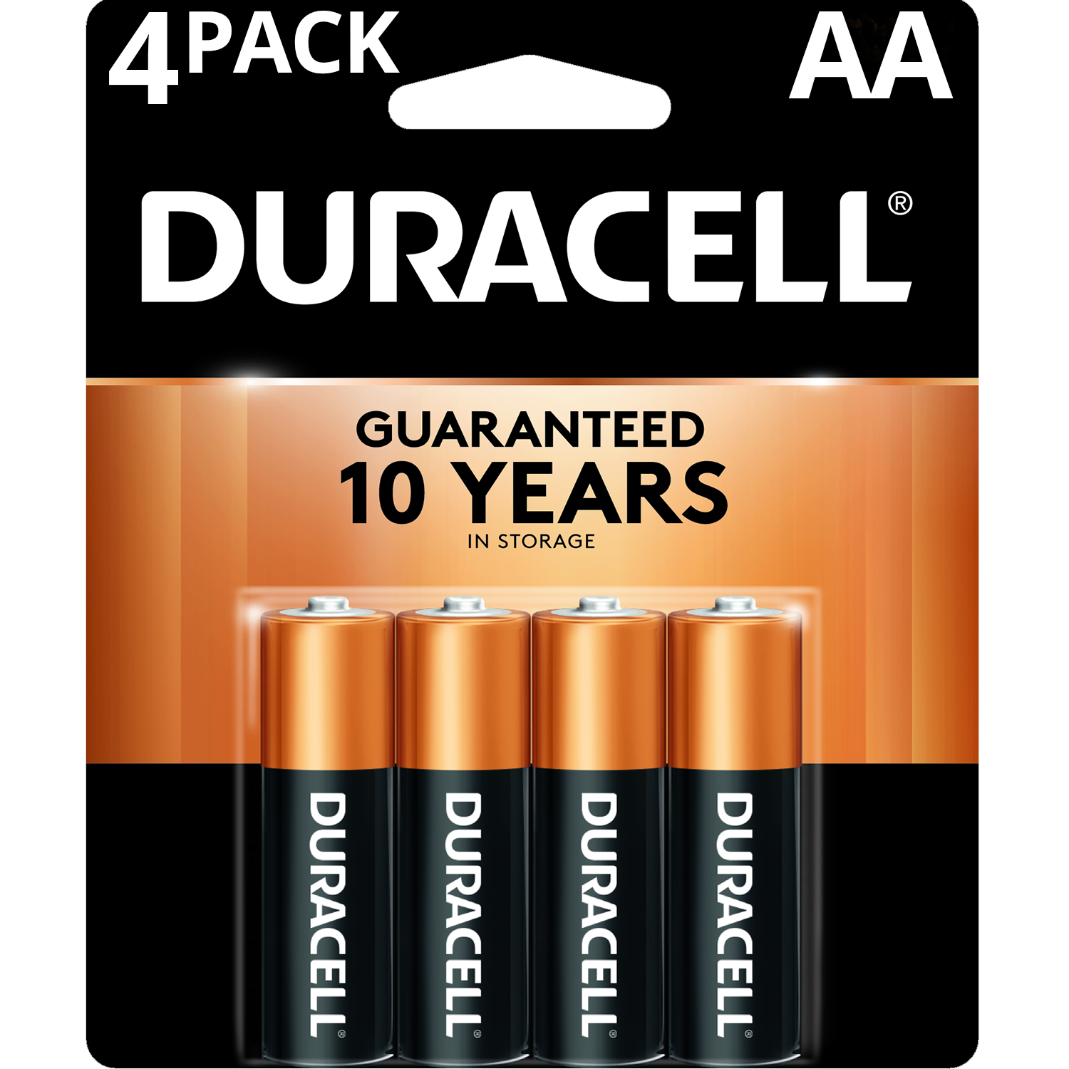 Image For Duracell® Coppertop AA Alkaline Batteries, 4/Pack