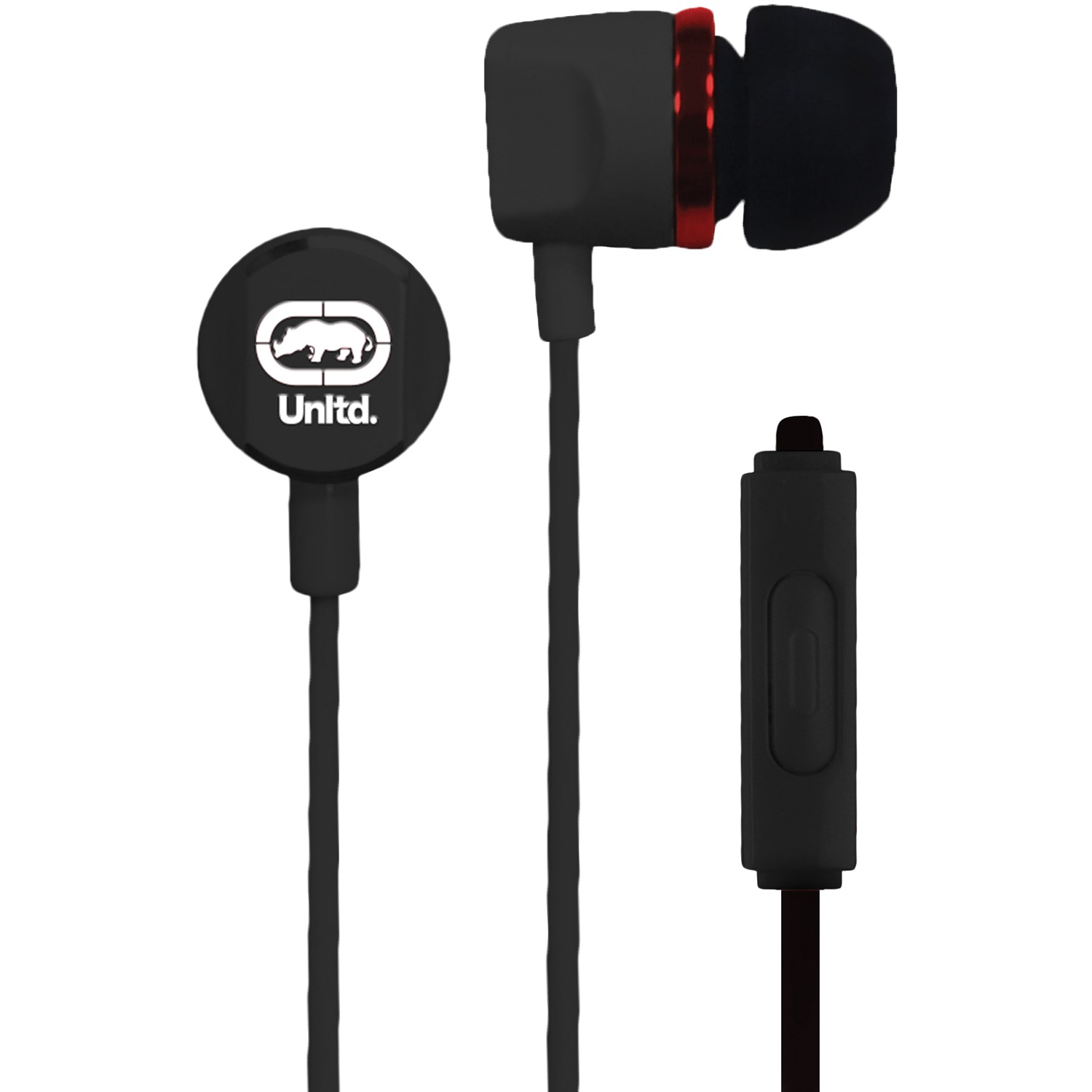 Cover Image For Ecko Unltd. Royce Earbuds with Microphone (Black)