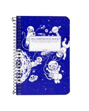 Image For Michael Roger's Spiral Pocket Notebook - Kittens in Space
