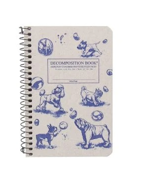 Image For Michael Roger's Spiral Pocket Notebook - Dogs + Bubbles