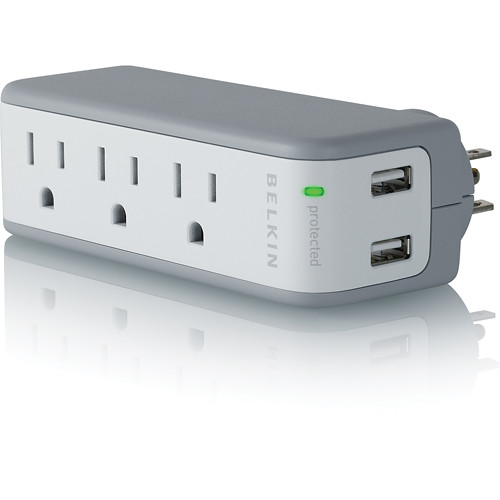 Image For Belkin Mini Surge Protector with USB Charger