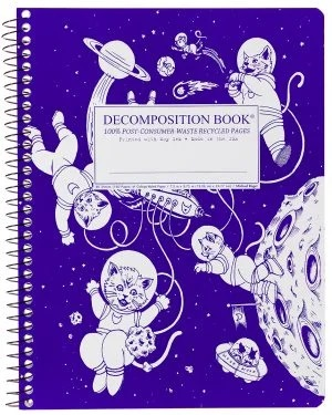 Image For Michael Roger's Spiral Bound Notebook - Kittens in Space