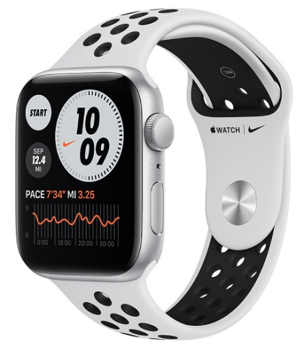 Image For Apple Watch Nike SE - 44mm Silver/Pure Platinum and Black