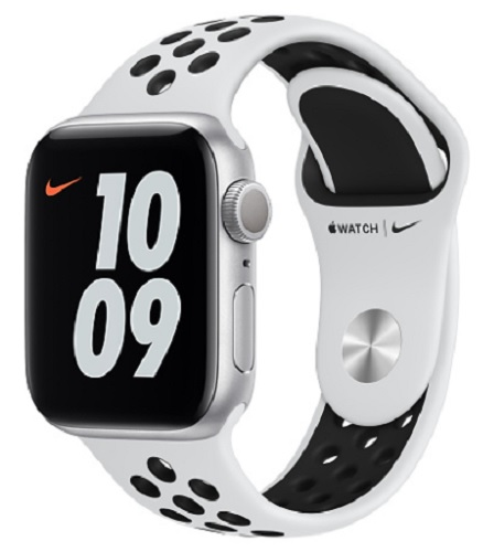 Image For Apple Watch Nike Series 6 - 40mm Silver/Pure Platinum and Bl