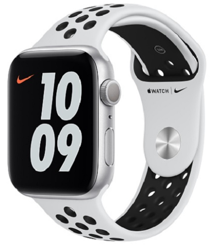 Image For Apple Watch Nike Series 6 - 44mm Silver/Pure Platinum and Bl