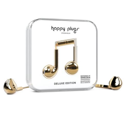 Image For Happy Plugs Earbuds - Gold